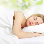 Listing woman sleeping peaceful